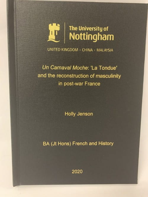 Dissertation binding nottingham writing argument essay