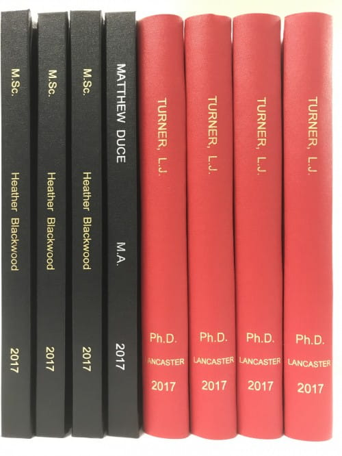 lancaster or even dissertation binding